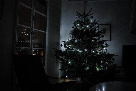 LED-ljus i granen (80 stycken dioder)