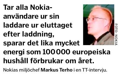 Markus Terho, Nokias miljöchef, SvD-faksimil