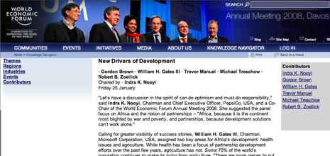 Michael Treschow i Davos