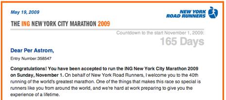 ING New York Marathon 2009