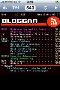 Bloggar i texttv