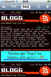 Blogginlägg i texttv